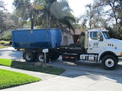 roll off dumpster rental truck in san antonio