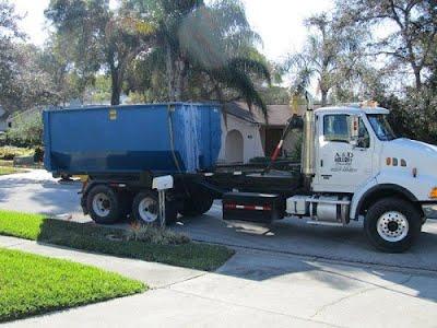 roll off dumpster rental truck in san antonio